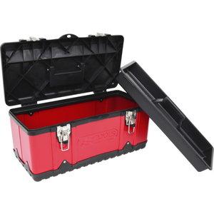 Plastist ja terasplekist tööriistakast, 470x238x203 mm, KS Tools