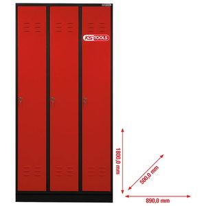 įrankių spintelė 3 durų 1800x890x500 mm, KS Tools