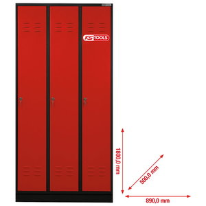Locker 3 doors 1800x890x500mm, KS Tools