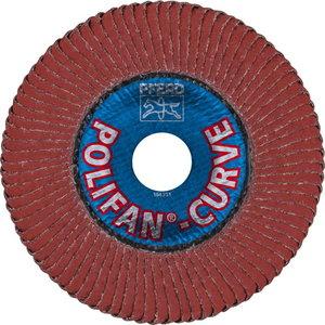Vėduoklinis diskas 125mm A40 SGP-CURVE L ALU >8mm, Pferd