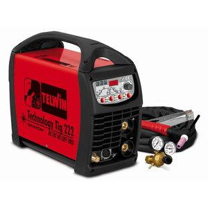 TIG AC/DC metināšanas iekārta Technology TIG 222 ar degli, Telwin