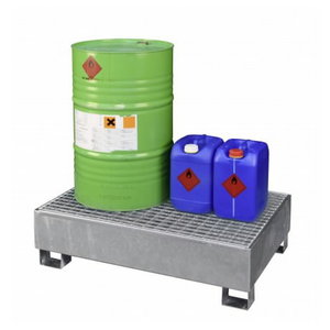 Sump pallet with grating SW1, 1x200L, Cemo