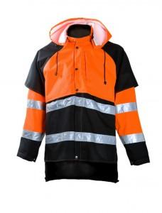 Jaka  858 mežstrādniekiem, oranža/melna, 2XL, Dimex