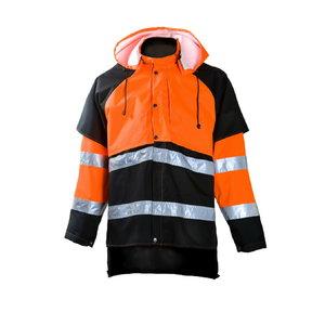 Lietaus švarkas miškininkui  858 oranžinis/juodas XL, Dimex