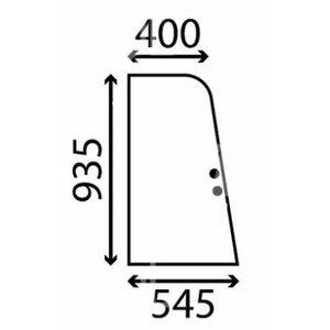 Windowpanel 1CX JCB 290/51701, TVH Parts