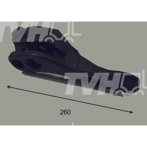 Bucket tooth, left, 400/F0343, TVH Parts