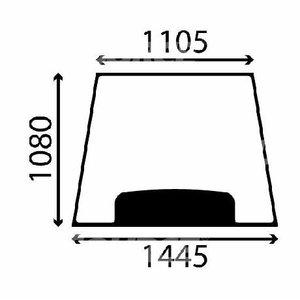 Front window glass, JCB 3CX/4CX 827/30565, TVH Parts