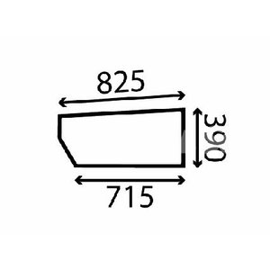 Cab glass JCB 827/80175, Total Source