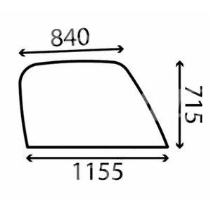 Kabiiniklaas, parem Loadall-ile 827/80202, Total Source