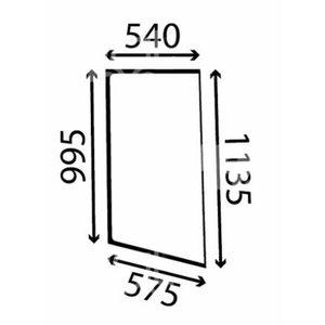 Kabiiniklaas, vasak, 2CX-le 827/80374, Total Source