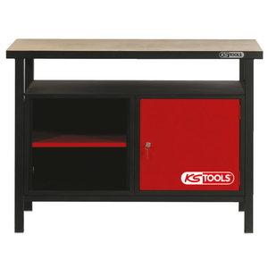 Darba galds ar 1 durvīm 1200x600x840mm KST, KS Tools