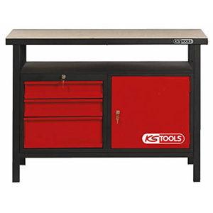 Darba galds ar 3 atvilknēm un 1 durvīm 1200mm KST Racing, KS Tools