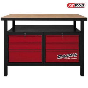 Töölaud 6 sahtliga 1200mm KST Racing, KS Tools