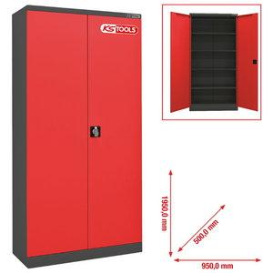 Lockable cupboard 5 shelves 1950x950x500mm, KS Tools