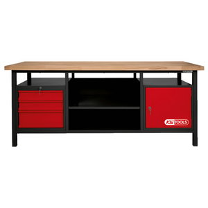 Darba galds XXL ar 3 atvilktnēm un 1 durvīm, KS Tools