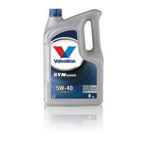 SYNPOWER 5W40 motor oil 5L, Valvoline