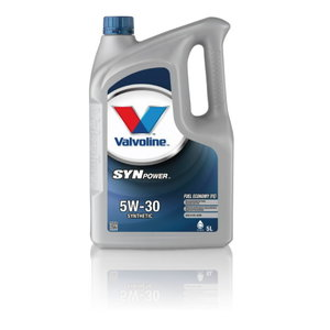 SYNPOWER FE 5W30 motor oil, Valvoline