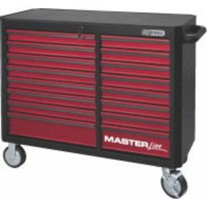 Įrankių spintelė, raudona  16 stalčių MASTER, KS Tools