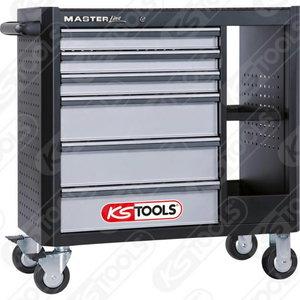 Įrankių spintelė MASTERline  6 stalčiai + 2 lentynos, KS Tools