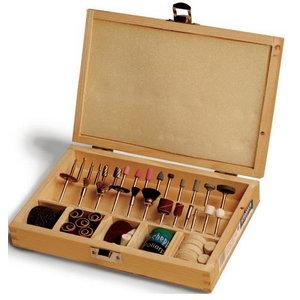 103 dalių komplektas, medinėje dėžutėje. Deco-flex, Scheppach