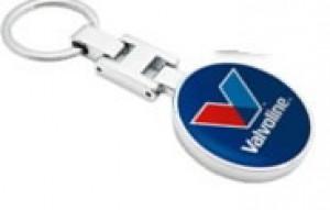 Võtmehoidja VALVOLINE logo ühel poolel, metallist, Valvoline
