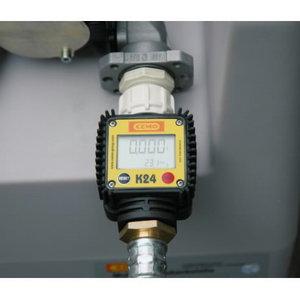 Digitālais plūsmas mērītājs K24 12V 40L/min 430l tvertne, Cemo