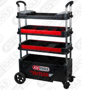 Įrankių  vežimėlis,  sulankstomas 630x770x395mm, KS tools