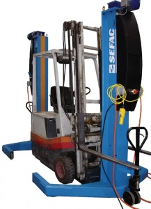 Set of 2 mobile column for forklifter 2x4T