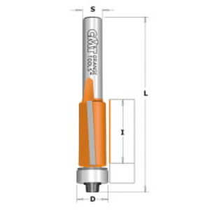 Flush trim bit with bearing 9,5x25,4mm S8, CMT