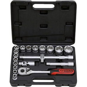 "Padruni kmpl 1/2"" 10-32mm 20-osa SUPERLOCK, KS Tools"