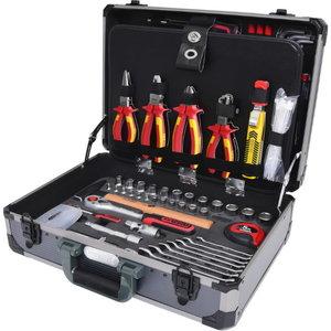 """1/4"""" + 1/2"""" Elektriku tööriistakomplekt, 128 pcs, KS Tools"""