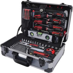 """1/4""""+1/2"""" universalus įrankių komplektas, 165 vnt, KS tools"""