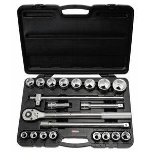 Hylsy 3/4 sarja 21 osaa CLASSIC 19-50 mm, KS Tools