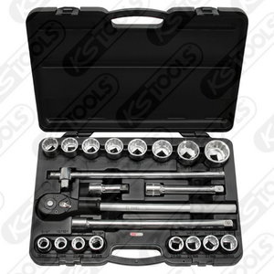 """3/4"""" CLASSIC Bi hex socket set, 21pcs, KS Tools"""
