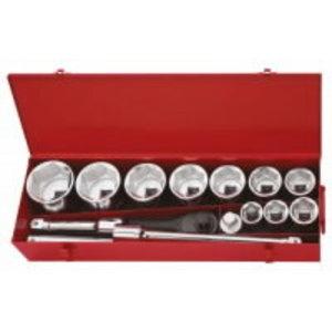"""Socket set 1"""" 36-80mm 15-pcs, KS Tools"""