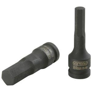 Iskukuusiokolohylsy 1/2´´ 19 mm pitkä, KS Tools
