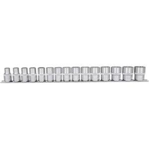 Padrun kmpl 1/2´´ 12kant 10-24mm 15-osa, KS Tools