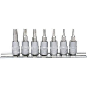 Socket 1/4 set TX  T10-T40, KS Tools