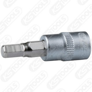 Hex bit socket, 3/8´´, 4mm, KS Tools