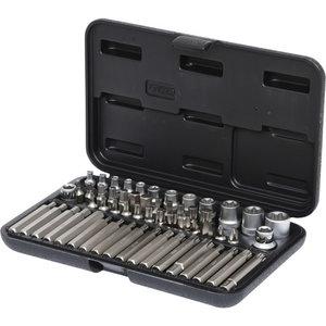 """Socket and bit set 1/4"""",3/8"""",1/2"""" TX 57pcs, KS Tools"""