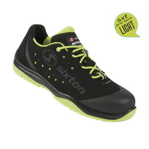 Safety shoes Cuban 01L Ritmo, black/yellow, S1P ESD SRC 45, Sixton Peak