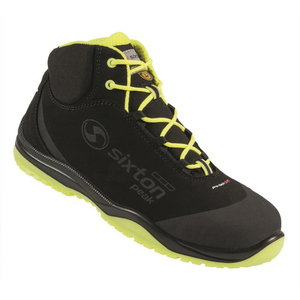 Safety boots Cuban High 00L Ritmo, black/yellow, S3 ESD SRC 46, Sixton Peak