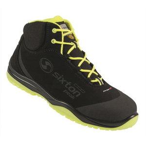 Apsauginiai batai Cuban 01L Ritmo, juoda/geltona S3 ESD SRC 46, Sixton Peak