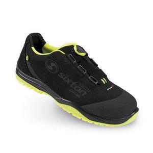 Safety shoes Cuban BOA Ritmo, black/yellow, S3 SRC ESD 43, Sixton Peak