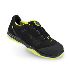 Safety shoes Cuban Boa 00 Ritmo, black/yellow, S3 ESD SRC, Sixton Peak