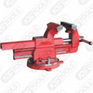 Lygiagretusis spaustuvas su apval. plokštelėm 125mm Premium, KS tools