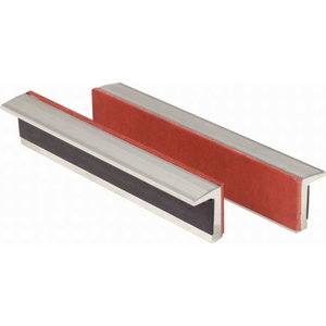 Aluminium bench vice jaws with rubber insert, 100mm, KS Tools
