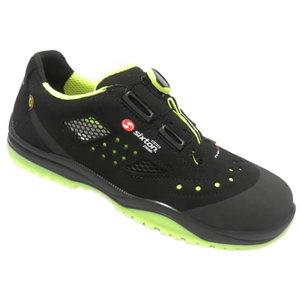 Safety sandals Meneito BOA Ritmo, black/yell, S1P ESD SRC, Sixton Peak