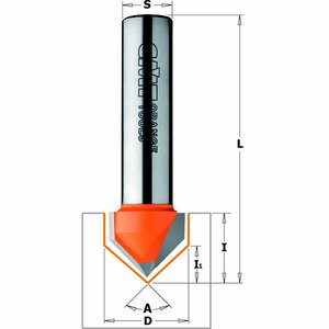 Frēzes asmens 90 ° TCT S=8 D=12,7X12,7, CMT