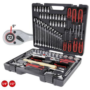 """1/4""""-1/2"""" universalus įrankių komplektas, 97 vnt, KS Tools"""